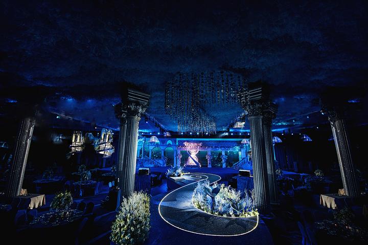 海洋主题婚礼堂施工